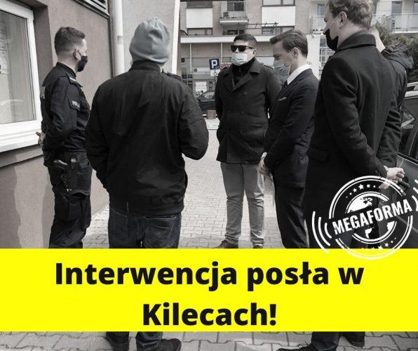 Interwencja Krzysztofa Bosaka w Kielcach