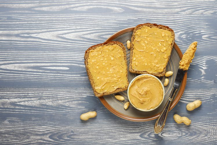 Peanut butter sandwiches or toasts.